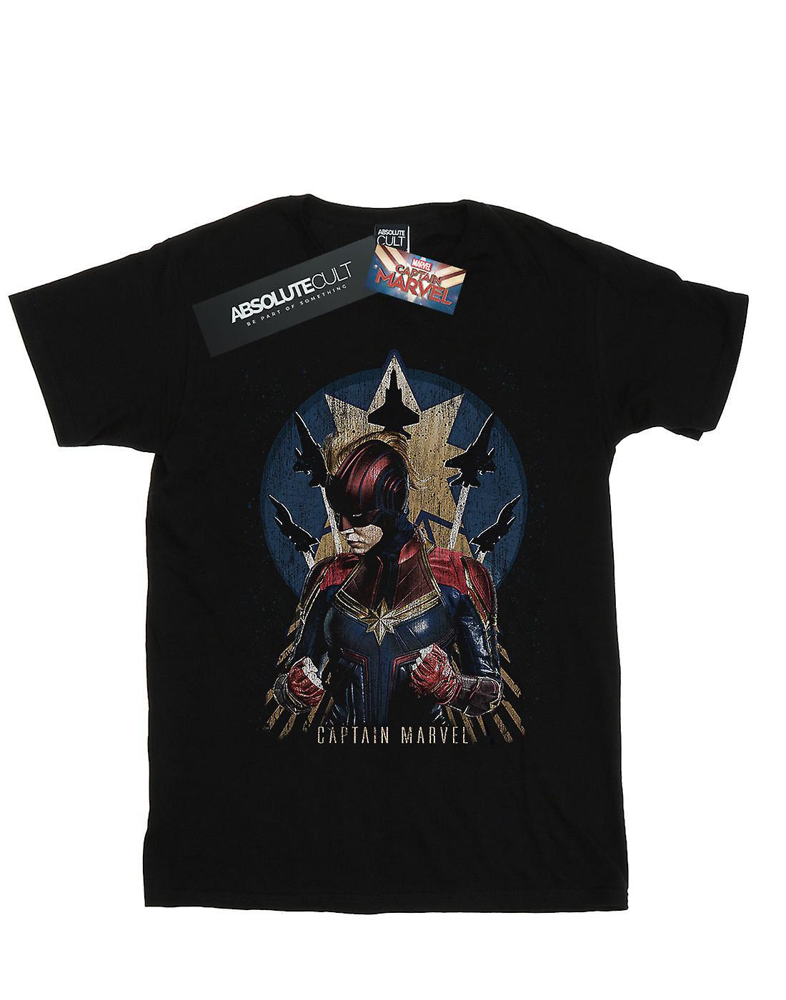 Marvel Boys Captain Marvel Jet Burst T-Shirt