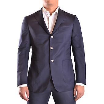 Burberry Ezbc001022 Männer's blaue Wolle Blazer