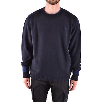 Harmont&blaine Ezbc096005 Men's Blue Wool Sweater