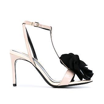 Lanvin Fwsams0dmilae17 Kvinnor's Rosa lackläder sandaler