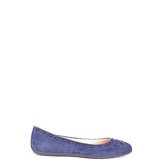 Tod's Xxw71a0y311hr0u824 Mujeres's Blue Suede Flats