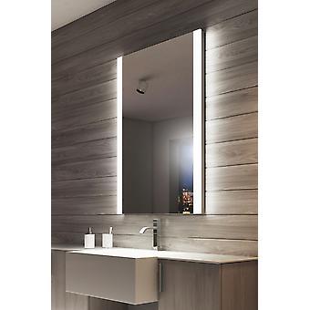 RGB Audio Double Edge Bathroom Mirror with Shaver Socket k8501vrgbaud