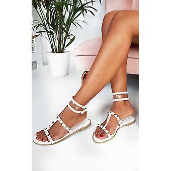 ИКРАШ женская Паула шипованные Perspex сандалии