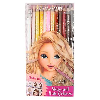 TOPModel Coloured Pencils Set (Hair and Skin Colours)