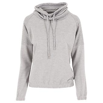 Urban Classics Women's Hooded Pullover Quilt High Neck Crew