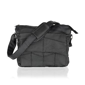 Portrait Black Messenger Bag 10.5