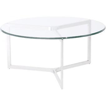 Waga meble ze stali nierdzewnej i szkła stolik
