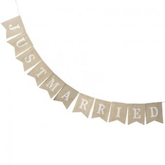 Heaven Sends Just Married Fabric Bunting | Gifts From Handpicked