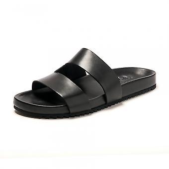 Grenson Grenson Chadwick Black Calf Sandal Fbbl F