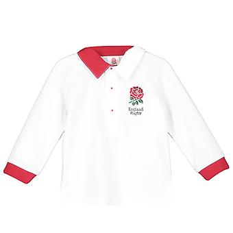 England RFU Rugby Baby/Toddler Long Sleeved Rugby Shirt | White | 2019/20 Season