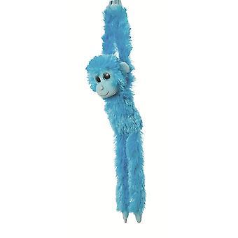 Aurora wereld 19-inch kleurrijke opknoping Chimp (blauw)
