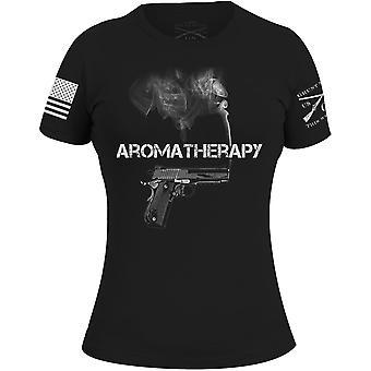 Grunt Stile Aromaterapia Donna T-Shirt - Nero