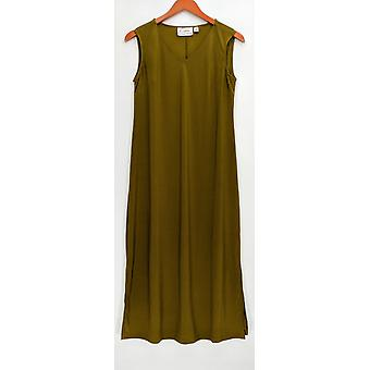 Linea by Louis Dell'Olio Petite Dress Crepe Sleeveless Olive Green A306409