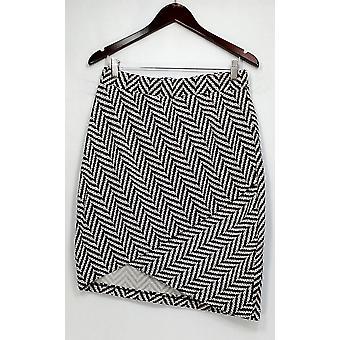 Pleione Rock elastische Taille gedruckt w / Detail schwarz