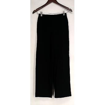 Women w/ Control Petite Pants Pull-On Wide Leg Black A266860