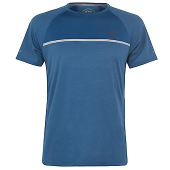 Asics hombres SN94 Running Deportes manga corta Crew Cuello Camiseta Camiseta