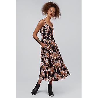 Louche Sirin Vintage Floral Print Dress Black