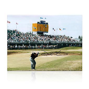 Darren Clarke underskrevet Golf Foto: den vindende 2011 Open shot