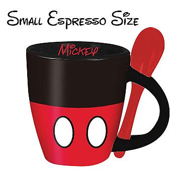 Mickey Mouse Espresso Cup With Spoon