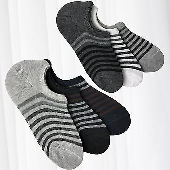 Sneaker Socks Stripes Number Footie Stockings 6 Pack Unisex Footwear 40-46 Basic