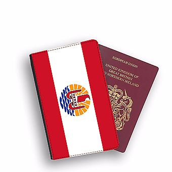 FRENCH POLYNESIE Flag Passport Holder Style Case Cover Protective Wallet Flags design