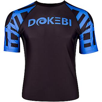 Dokebi Ghost Ranked Short Sleeve BJJ Rashguard - Albastru