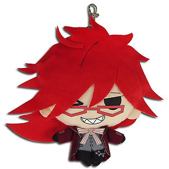 Coin Purse - Black Butler - Grell 7'' Plush New Licensed ge20574