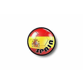 Patch badge Ecusson Brode prints Thermo collant vlag ballon voet Spanje