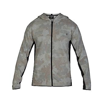 Hurley Dri-Fit Naturals Zipped Hoody in Camo Green