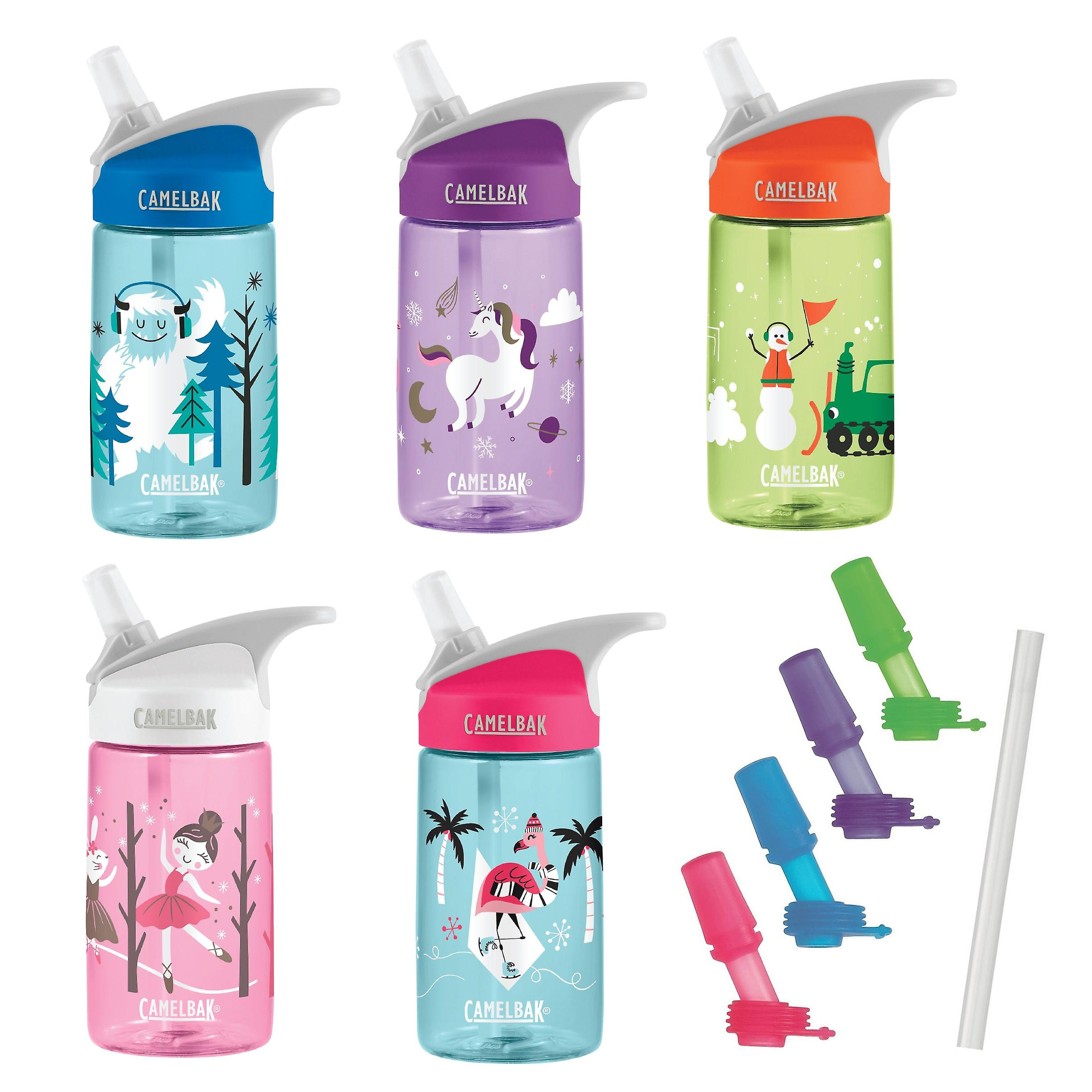 Camelbak Eddy Kids 400ml/12oz spill proof water bottle with spare straw + valve