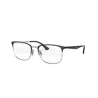 Ray-Ban RB6421 2997 Prata em Top Matte Black Glasses