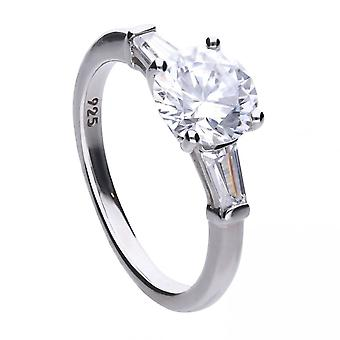 Diamonfire Silver White Zirconia Engagement Ring R3613