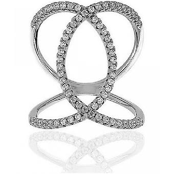 Sif Jakobs Ring Fucino Silver Collection SJ-R0059-CZ - Size 58