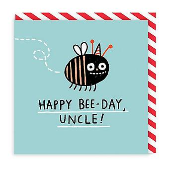 Ohh Deer Happy Bee-Day Uncle Square Birthday Card
