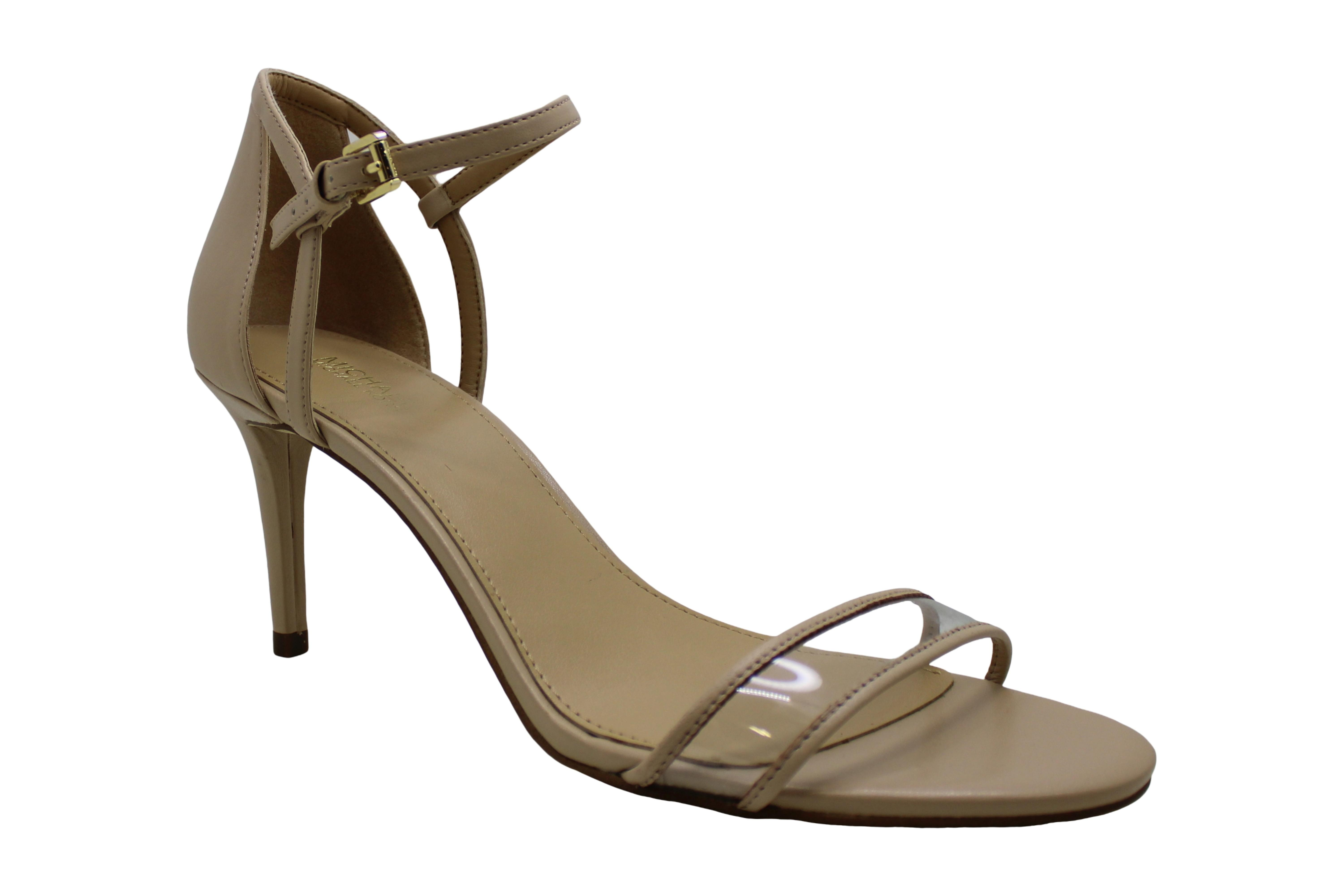 Michael Michael Kors Womens Simone Leather Open Toe Special Occasion Ankle St...