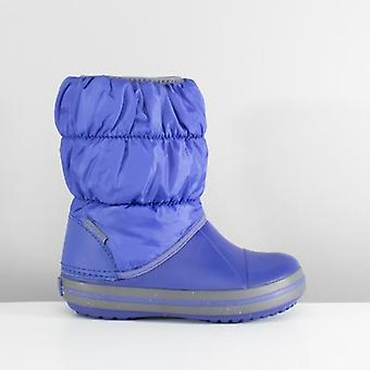 Crocs 14613 vinter puff støvle børn varm foret støvler Cerulean blå/lysegrå