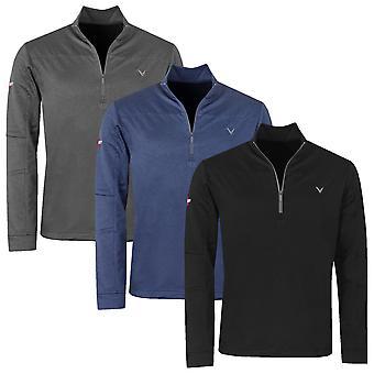 Callaway Mens Golf Odyssey Waffle 1/4 Zip Midlayer Sweater