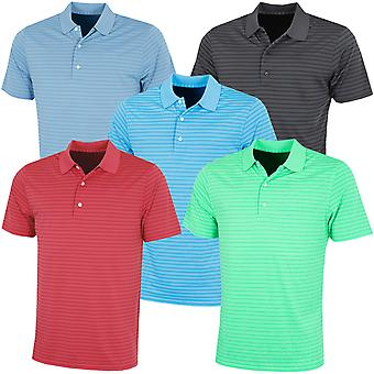 Greg Norman Mens KX89 Engineered Stripe Golf Wicking Polo Shirt