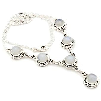 Moonstone Necklace 925 Silver Sterling Silver Chain Necklace White (MCO 03-04)
