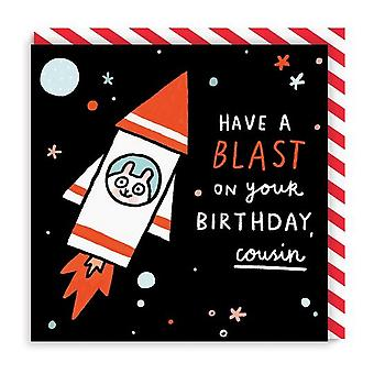 Ohh Deer Blast Cousin Square Birthday Card