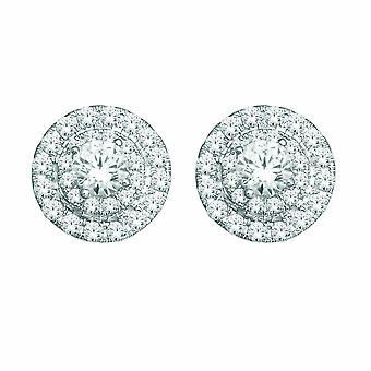 Igi sertifioitu luonnollinen 10k valkoinen kulta 0,50 ct pyöreä leikattu timantti stud korvakorut
