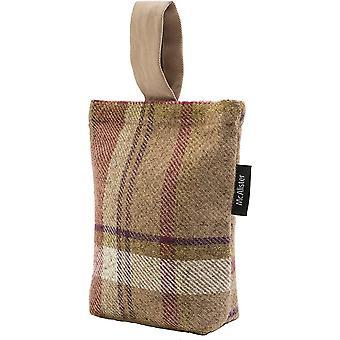 McAlister têxteis património tartan roxo + verde tecido batente da porta
