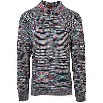 MISSONI Missoni Striped Long Sleeve Polo Shirt