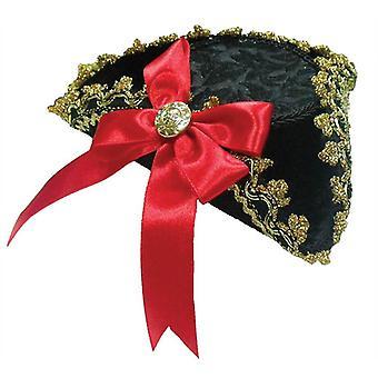 Tricorn Mini Hat + rød sløjfe.