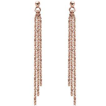 Earrings Clio Blue BO1462P - earrings multichannel Rose money woman