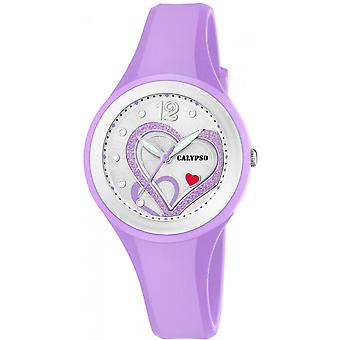 Calypso watch watches K5751-2 - Watch Silicone Violet woman