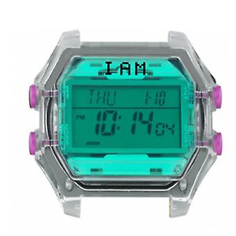 Watch I Am The Watch IAM-010 - Turquoise Glass And Fushia Buttons / 18 mm Horn Set