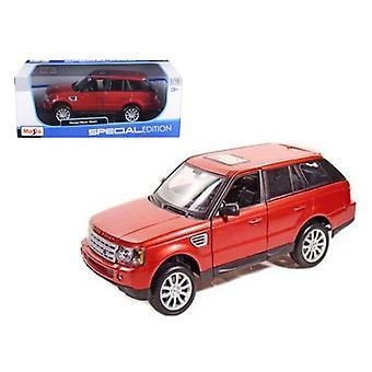 Range Rover Sport Metallic Red 1/18 Diecast Model Car par Maisto