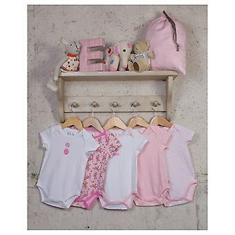 De Essential One Baby Girls Kitten Floral Bodysuits - 5 Pack