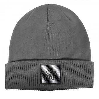 Kings Will Dream Hills Grey Oversized Beanie Hat With Turn-up